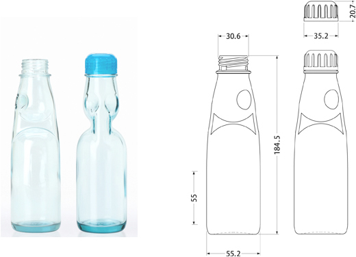 Ramune Bottle Glass Container Toyo Glass Co Ltd