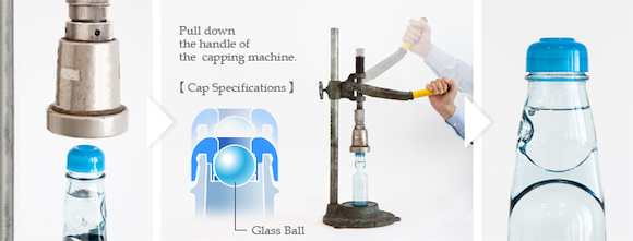 Pull down the handle of the capping machine